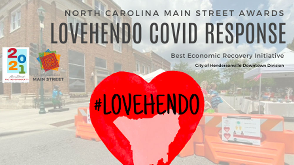 Downtown Hendersonville Recognized for Economic Recovery Efforts